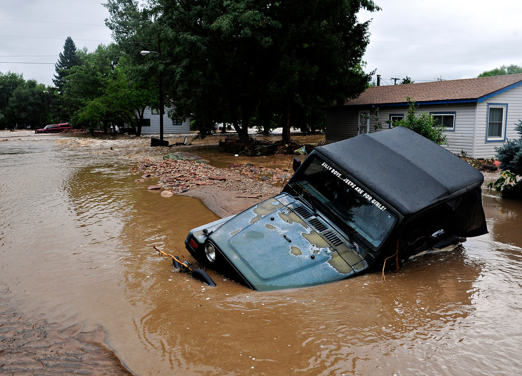 . Flood damage in Lyons Friday, Sept. 13, 2013. (Greg Lindstrom/Times-Call)