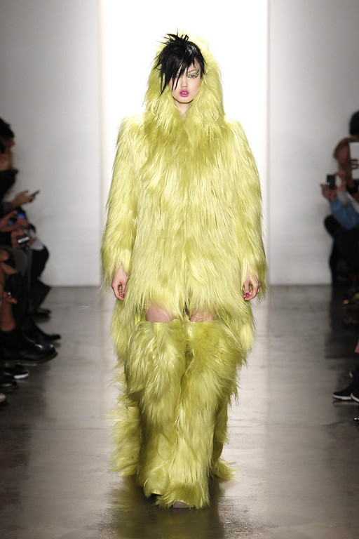 . Model Lindsey Wixson walks the runway at the Jeremy Scott fall 2013 fashion show during MADE Fashion Week at Milk Studios on February 13, 2013 in New York City.  (Photo by Joe Kohen/Getty Images)