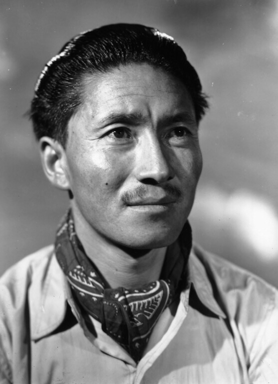 . Sherpa Tensing, Tenzing Norkay or Tenzing Norgay summited Mount Everest in 1953 with Sir Edmund Hillary.  Norgay and Hillary reached the summit of Mount Everest on May 29 of that year. In 2013, to mark the anniversary of the climb, Queen Elizabeth II and Prince Philip, Duke of Edinburgh  attended a reception to mark the feat of the two men where they met their sons at the Royal Geographic Society in London. (Photo by Baron/Getty Images)