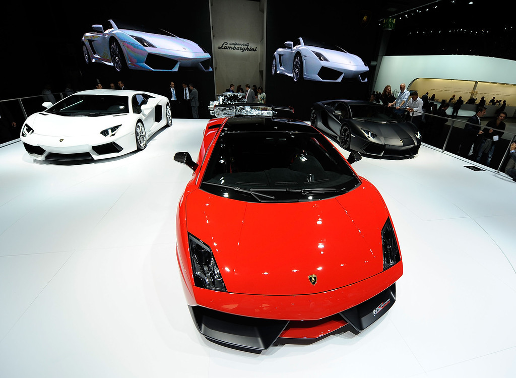 . Lamborghini Gallardo is pictured during the press days at the IAA Frankfurt Auto Show on September 14, 2011 in Frankfurt am Main, Germany. (Photo by Thorsten Wagner/Getty Images)