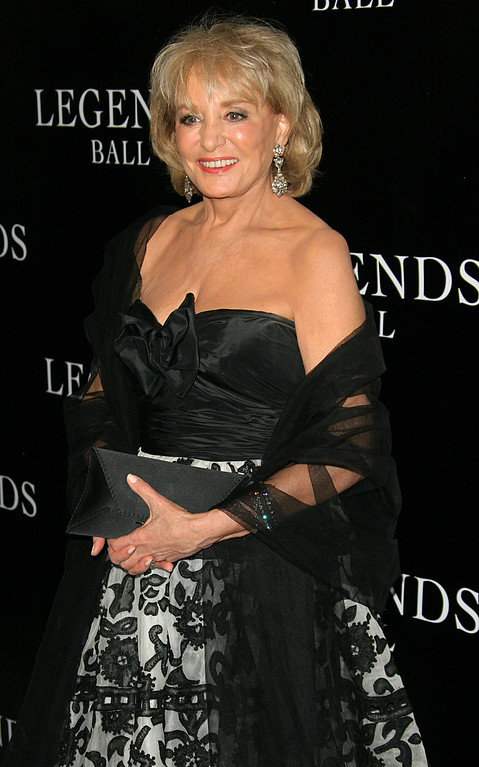 """. FILE - This May 14, 2005 file photo shows TV personality Barbara Walters at the Legends Ball, an award ceremony hosted by Oprah Winfrey  in Santa Barbara, Calif.  On Friday, May 16, 2014, capping a spectacular half-century run she began as the so-called \""""Today\"""" Girl, Walters will exit ABC\'s \""""The View.\"""" Behind the scenes she will remain as an executive producer of the New York-based talk show she created 17 years ago, and make ABC News appearances as events warrant and stories catch her interest. (AP Photo/Michael A. Mariant, File)"""