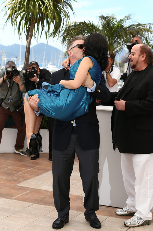 . Actor Alec Baldwin and Hilaria Baldwin attend the \'Seduced And Abandoned\' Photocall during The 66th Annual Cannes Film Festival at the Palais des Festivals on May 21, 2013 in Cannes, France.  (Photo by Andreas Rentz/Getty Images)