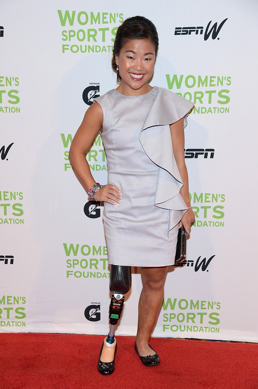 . NEW YORK, NY - OCTOBER 16:  Paralympian Scout Bassett attends the 34th annual Salute to Women In Sports Awards at Cipriani, Wall Street on October 16, 2013 in New York City.  (Photo by Michael Loccisano/Getty Images for the Women\'s Sports Foundation)