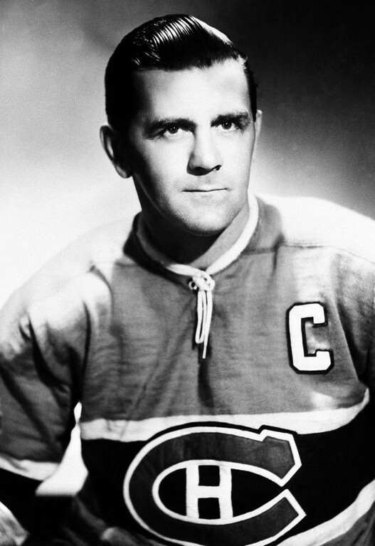 . Maurice The Rocket Richard of Montreal Canadiens poses  October 1957. (AP Photo)