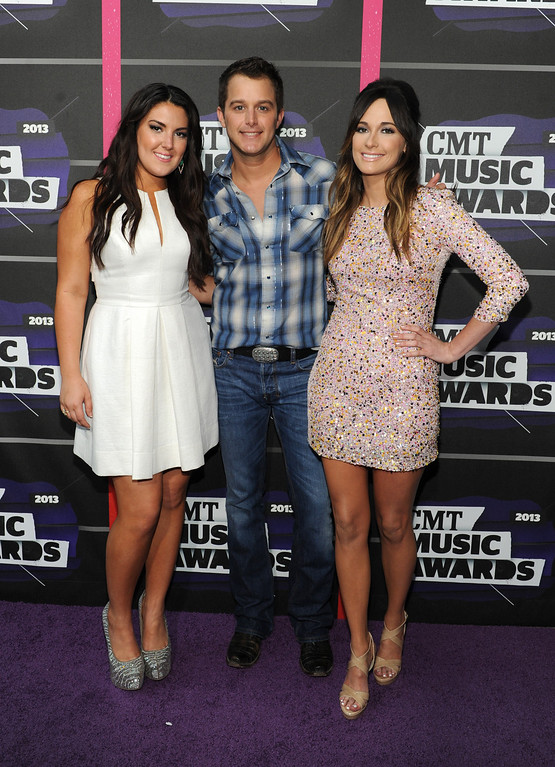 . Kree Harrison, from left, Easton Corbin and Kacey Musgraves arrive at the 2013 CMT Music Awards at Bridgestone Arena on Wednesday, June 5, 2013, in Nashville, Tenn. (Photo by Frank Micelotta/Invision/AP)