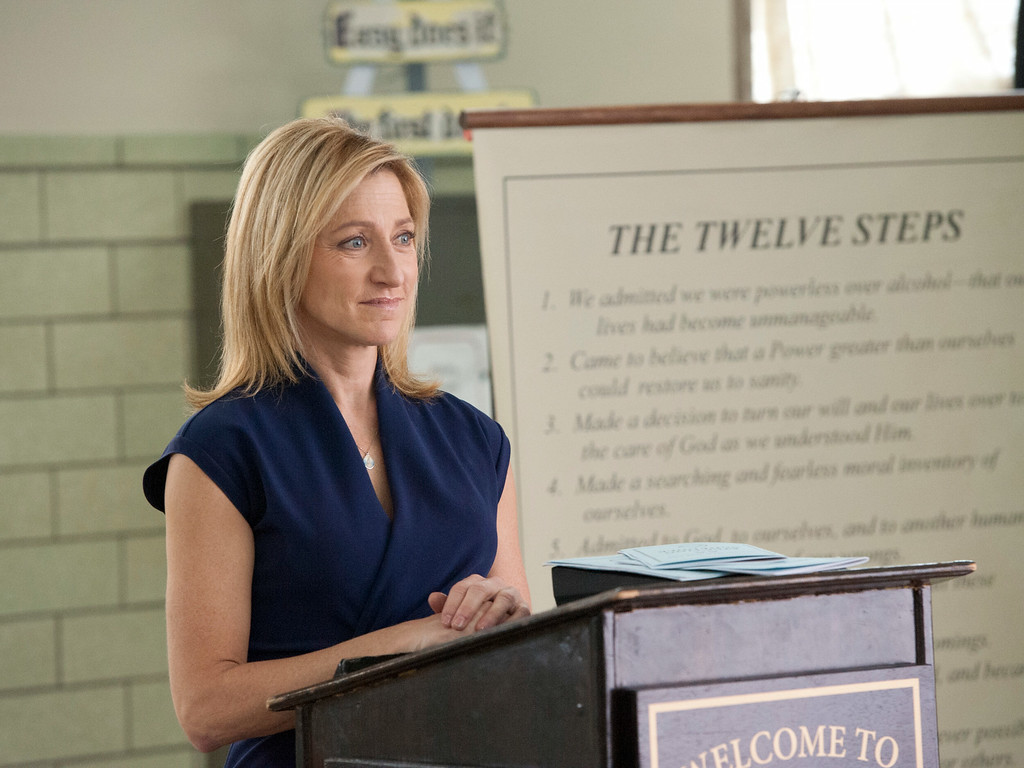 ". This publicity image released by Showtime shows Edie Falco as Jackie Peyton in ""Nurse Jackie.\"" Falco was nominated for an Emmy Award for best actress in a comedy series on Thursday, July 10, 2014. The 66th Primetime Emmy Awards will be presented Aug. 25 at the Nokia Theatre in Los Angeles. (AP Photo/Showtime, David M. Russell)"