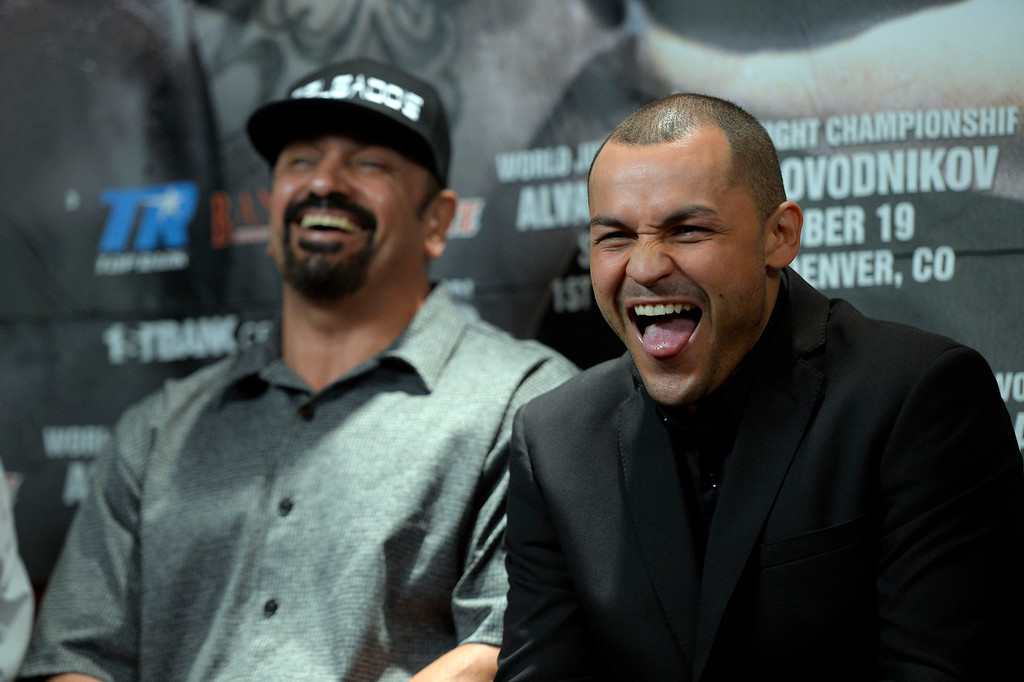 . 5. Mike Alvarado vs. Lenin Arroyo. After spending five months in prison for violating his probation, Alvarado returned to the ring in April of 2010 with a second-round knockout of Arroyo. Photos from fight not available.  (File photo by John Leyba/The Denver Post)