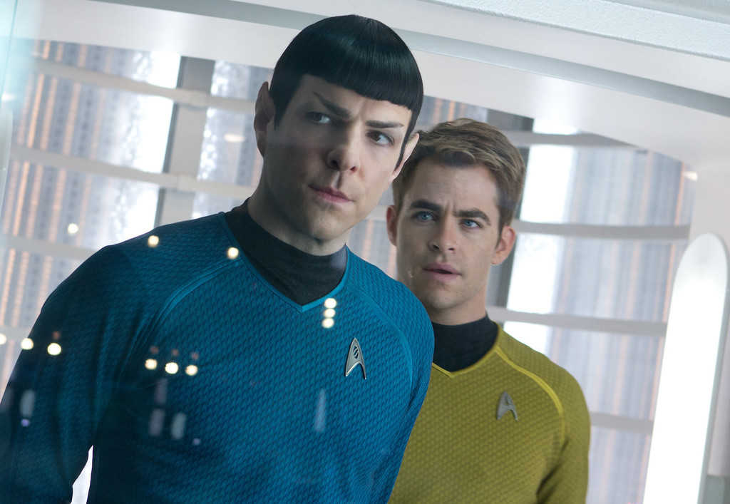 ". (Left to right) Zachary Quinto as Spock and Chris Pine as Capt. Kirk in ""Star Trek Into Darkness.\"" Provided by Paramount Pictures and Skydance Productions."