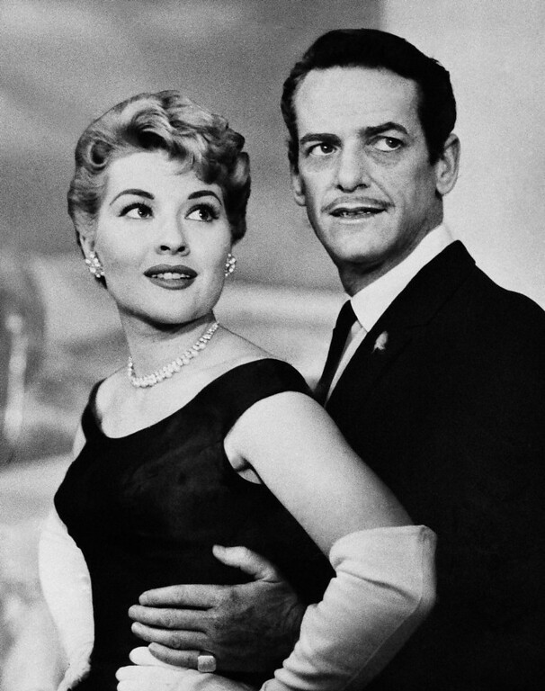. Singer Patti Page and dance director Charles O\' Curran pose together, 1956.  The pair plan to wed Dec. 28. (AP Photo) No Sales