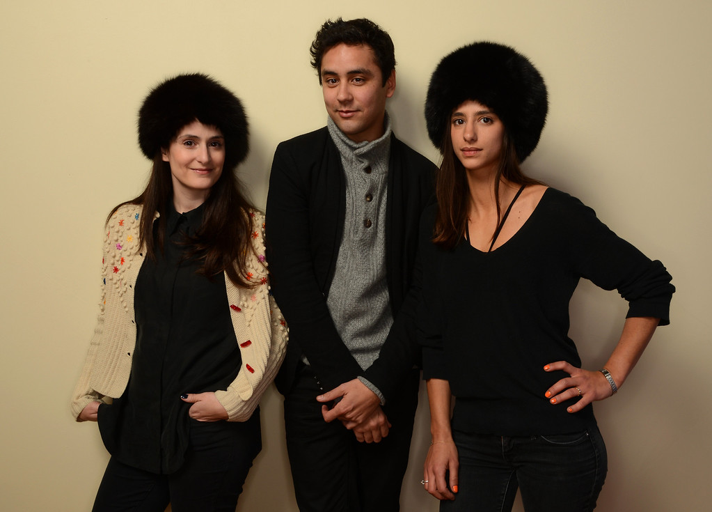 . (L-R) Filmmaker Tessa Louise-Salome, composer Gael Rakotondrabe, and producer Solveig Rawas pose for a portrait during the 2014 Sundance Film Festival at the Getty Images Portrait Studio at the Village At The Lift on January 20, 2014 in Park City, Utah.  (Photo by Larry Busacca/Getty Images)