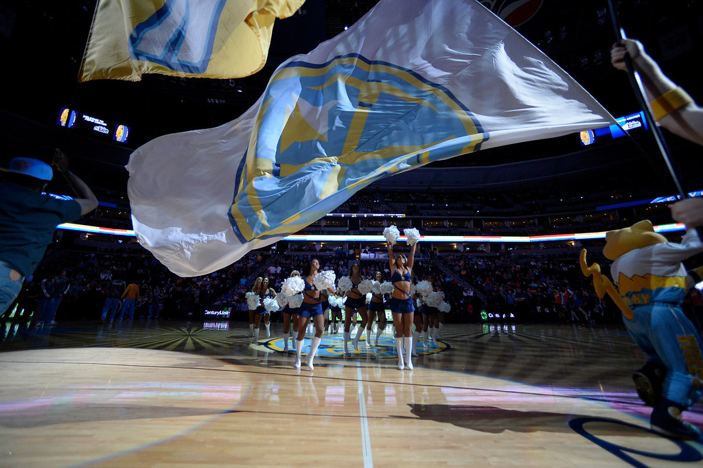 . Pregame festivities prior to the Denver Nuggets versus Phoenix Suns game October 23, 2013 at Pepsi Center. (Photo By John Leyba/The Denver Post)