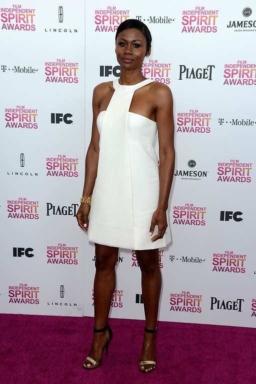 . SANTA MONICA, CA - FEBRUARY 23:  Actress Emayatzy Corinealdi attends the 2013 Film Independent Spirit Awards at Santa Monica Beach on February 23, 2013 in Santa Monica, California.  (Photo by Frazer Harrison/Getty Images)