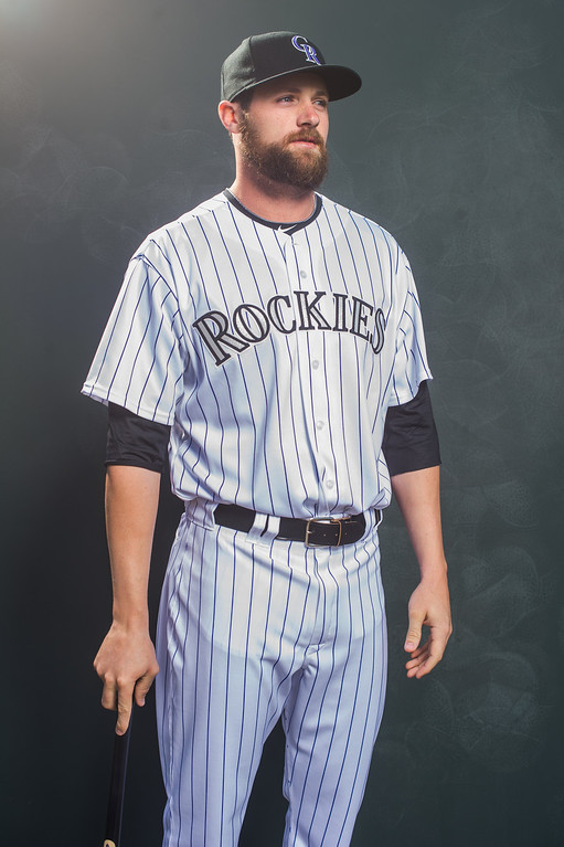 . Ben Paulson of the Colorado Rockies poses for a portrait during Photo Day at the Salt River Fields at Talking Stick on February 26, 2014 in Scottsdale, Arizona. (Photo by Rob Tringali/Getty Images)