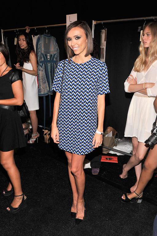 . TV personality Giuliana Rancic backstage at the Diane Von Furstenberg fashion show during Mercedes-Benz Fashion Week Spring 2014 at The Theatre at Lincoln Center on September 8, 2013 in New York City.  (Photo by Stephen Lovekin/Getty Images for Mercedes-Benz Fashion Week Spring 2014)