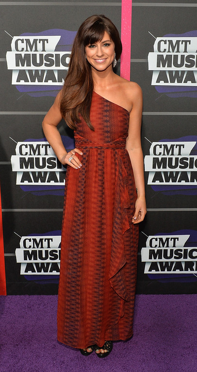 . NASHVILLE, TN - JUNE 05: Singer Rachel Reinert attends the 2013 CMT Music awards at the Bridgestone Arena on June 5, 2013 in Nashville, Tennessee.  (Photo by Rick Diamond/Getty Images)