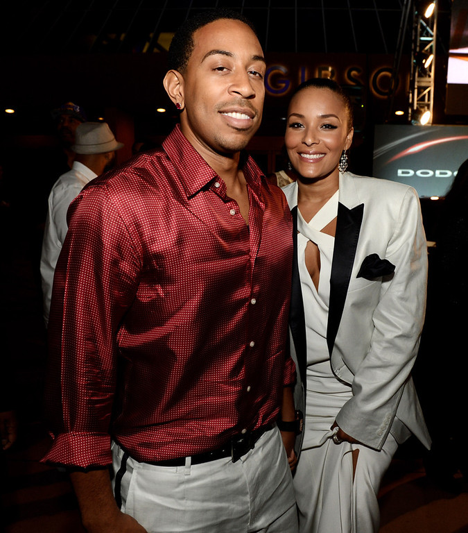 """. Actor/rapper Chris \'Ludacris\' Bridges and his girlfriend Eudoxie arrive at the after party for the premiere of Universal Pictures\' \""""Fast & Furious 6\"""" at the Gibson Amphitheatre on May 21, 2013 in Universal City, California.  (Photo by Kevin Winter/Getty Images)"""