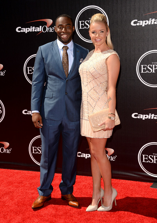 . LOS ANGELES, CA - JULY 16: Cleveland Browns\' Chris Ogbonnaya with guest attends The 2014 ESPYS at Nokia Theatre L.A. Live on July 16, 2014 in Los Angeles, California.  (Photo by Jason Merritt/Getty Images)