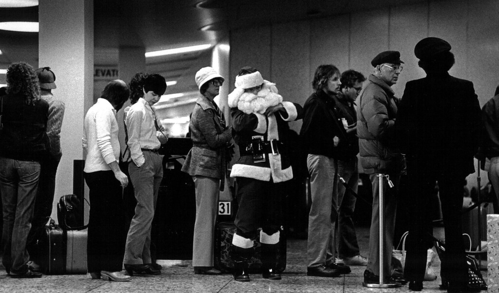 . It appears even Santa was stranded in Denver during the Blizzard of \'82. Denver Post Library Archive