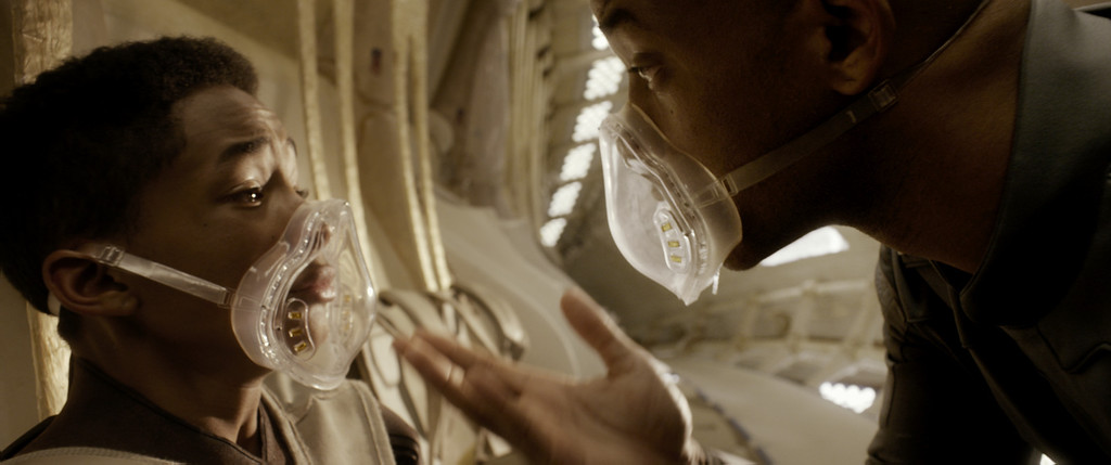 ". Jaden Smith, left, and WIll Smith star in Columbia Pictures\' ""After Earth.\"" Courtesy of Columbia Pictures."
