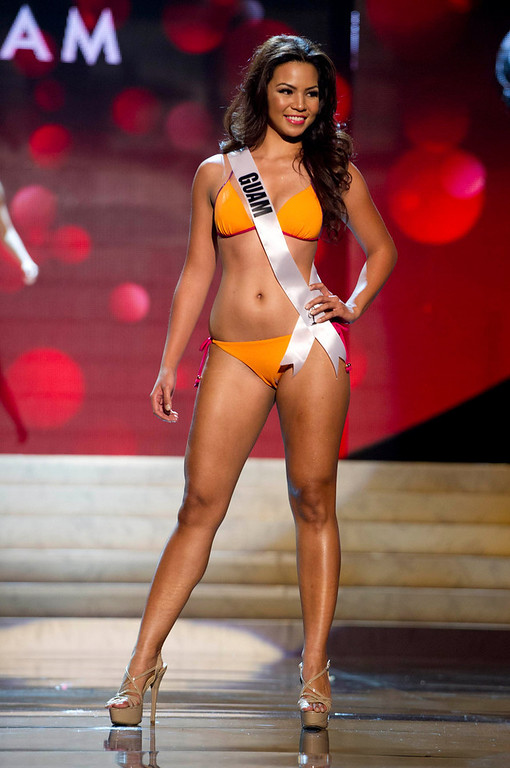 . Miss Guam 2012 Alyssa Cruz Aguero competes during the Swimsuit Competition of the 2012 Miss Universe Presentation Show at PH Live in Las Vegas, Nevada December 13, 2012. The Miss Universe 2012 pageant will be held on December 19 at the Planet Hollywood Resort and Casino in Las Vegas. REUTERS/Darren Decker/Miss Universe Organization L.P/Handout