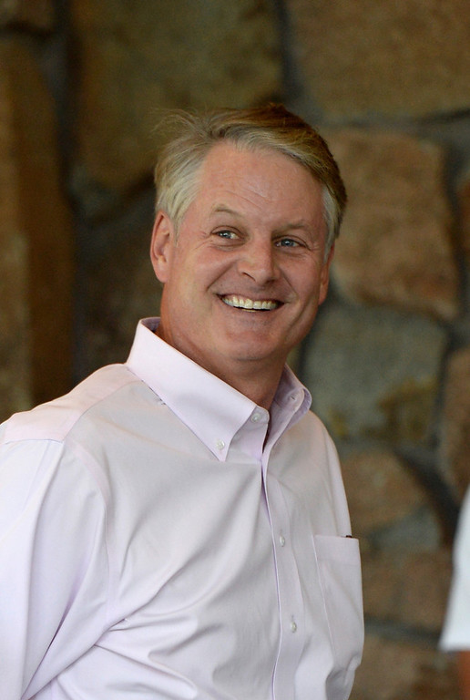 . John Donahoe, President and CEO of eBay Inc., arrives for the Allen & Co. annual conference on July 9, 2013 in Sun Valley, Idaho. The resort will host corporate leaders for the 31th annual Allen & Co. media and technology conference where some of the wealthiest and most powerful executives in media, finance, politics and tech gather for weeklong meetings which begins Tuesday. Past attendees included Warren Buffett, Bill Gates and Mark Zuckerberg.  (Photo by Kevork Djansezian/Getty Images)