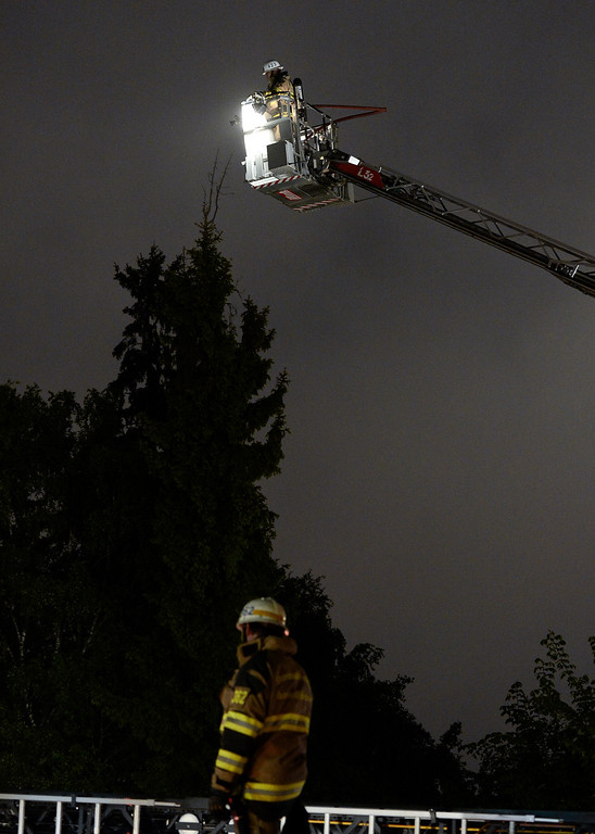 . Firemen extinguish a blaze at a nursery school in the Stockholm suburb of Kista after youths rioted in several different suburbs around Stockholm, Sweden for a fourth consecutive night on May 24, 2013. In the suburb of Husby, where the riots began on Sunday in response to the fatal police shooting of a 69-year-old machete-wielding man, 80 percent of residents are immigrants and the unrest has highlighted Sweden\'s failure to integrate swathes of its immigrant population, but in this small, consensus-driven country, there was little agreement on how to solve the problem. JONATHAN NACKSTRAND/AFP/Getty Images