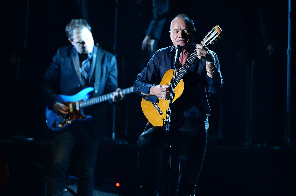 . Sting performs onstage during the 68th Annual Tony Awards at Radio City Music Hall on June 8, 2014 in New York City.  (Photo by Theo Wargo/Getty Images for Tony Awards Productions)