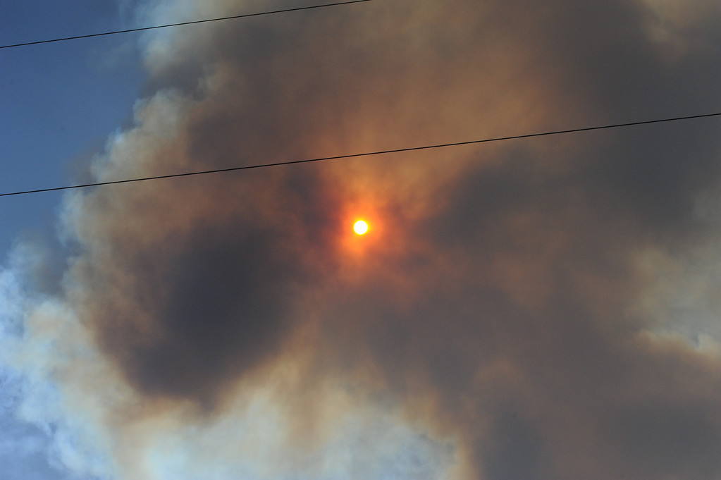 . A fire is burning near the Royal Gorge. (Daily Record Photo)