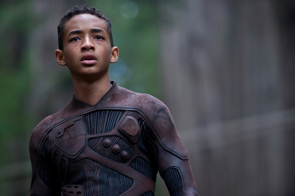 ". Jaden Smith stars in sci-fi adventure ""After Earth\"" alongside father Will Smith. Provided by Columbia Pictures."