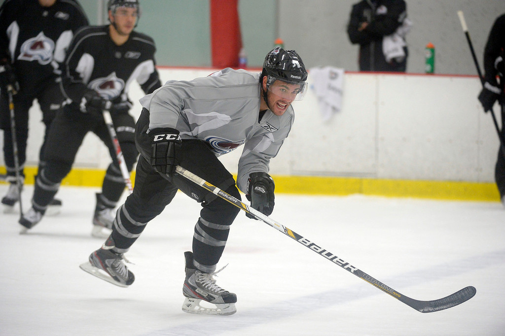 . Colorado Avalanche Trevor Cheek (39) races down ice  during rookie camp practice September 10, 2013 at Family Sports. (Photo By John Leyba/The Denver Post)