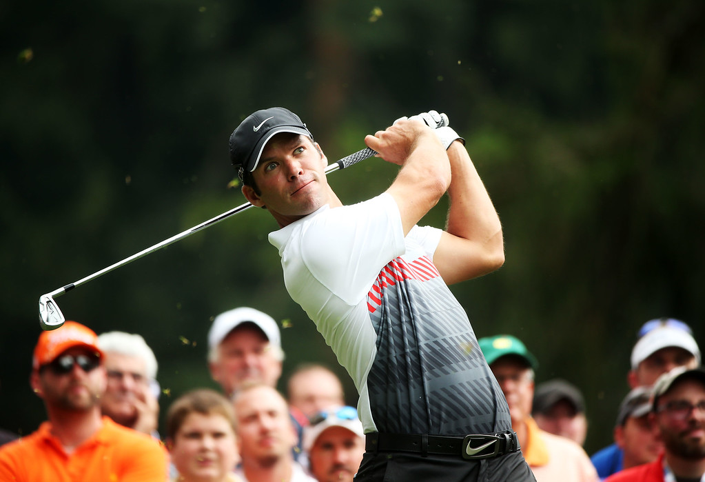 . ROCHESTER, NY - AUGUST 09: Paul Casey of England hits his tee shot on the 11th hole during the second round of the 95th PGA Championship on August 9, 2013 in Rochester, New York.  (Photo by Andrew Redington/Getty Images)