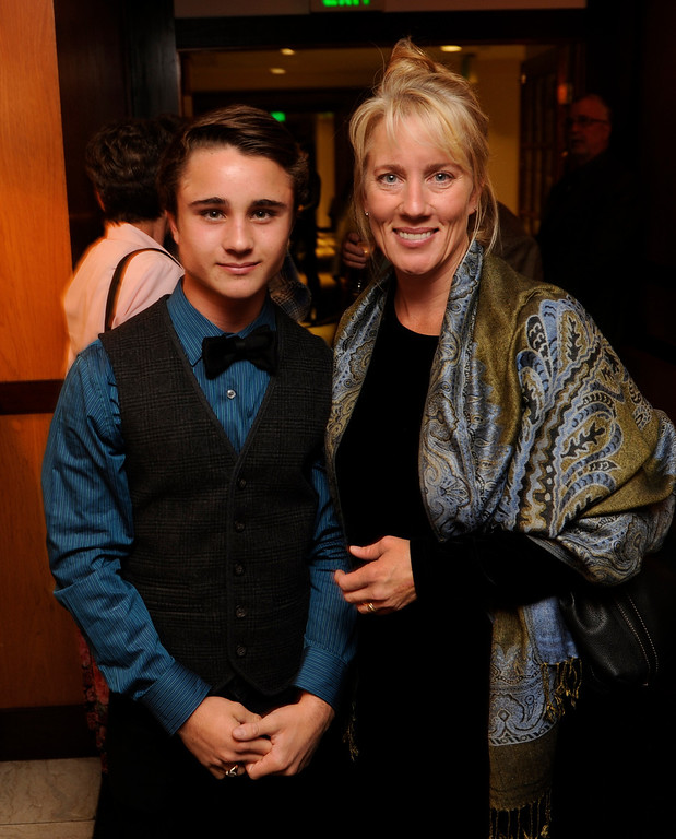 . DENVER, CO. - NOVEMBER 6: Actor Gattlin Griffith, left, posed with his mother Wendy as the 36th Starz Film Festival opened Wednesday night, November 6, 2013 with a showing of the movie Labor Day. Griffth stars in the film with Josh Brolin and Kate Winslet. Photo By Karl Gehring/The Denver Post