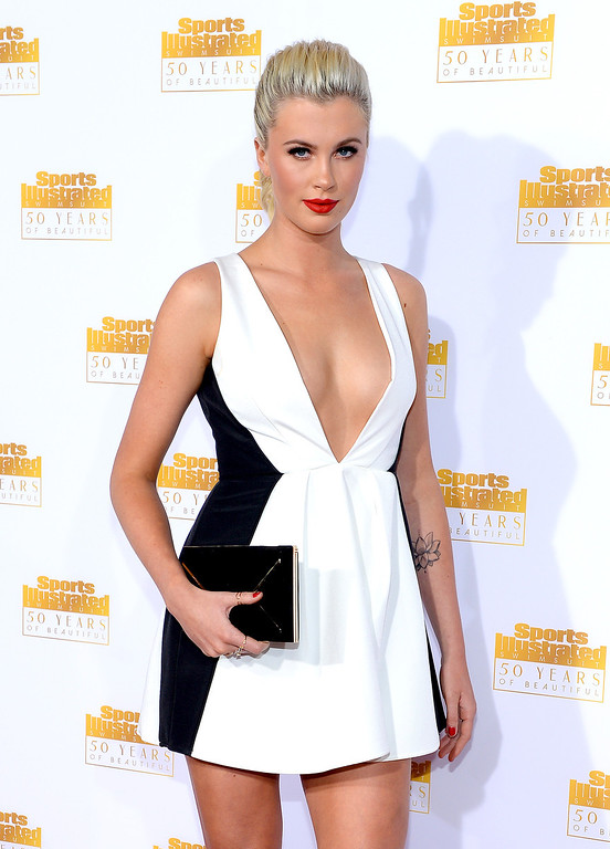 . Model Ireland Baldwin attends NBC and Time Inc. celebrate the 50th anniversary of the Sports Illustrated Swimsuit Issue at Dolby Theatre on January 14, 2014 in Hollywood, California.  (Photo by Dimitrios Kambouris/Getty Images)