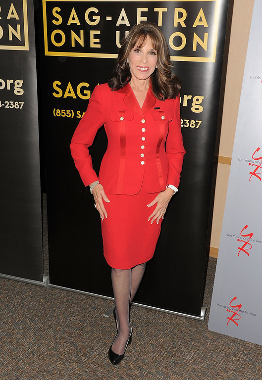 ". Actress Kate Linder attends the 40 years of ""The Young and The Restless\"" celebration presented by SAG-AFTRA at SAG-AFTRA on June 4, 2013 in Los Angeles, California.  (Photo by Angela Weiss/Getty Images)"