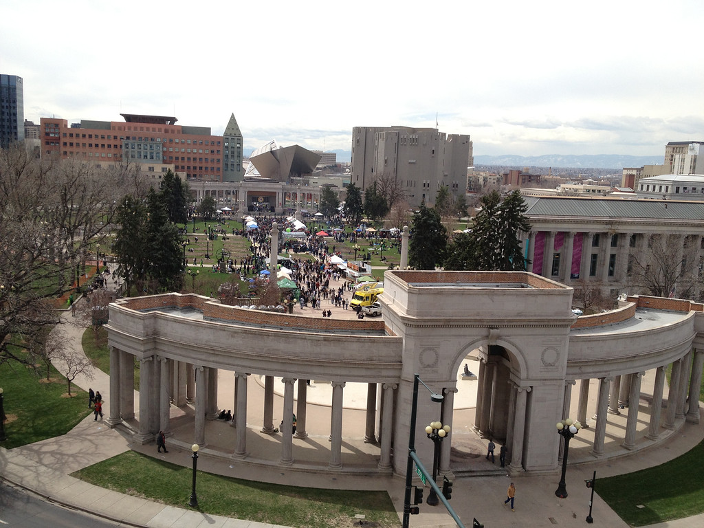 . Civic Center Park starts to fill up with more visitors around noon. (Joe Amon/The Denver Post)