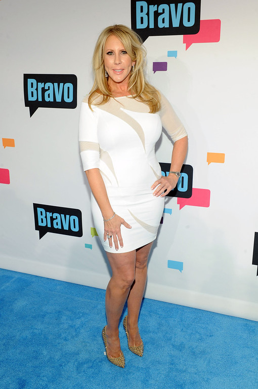 . Vicki Gunvalson attends the 2013 Bravo New York Upfront at Pillars 37 Studios on April 3, 2013 in New York City.  (Photo by Craig Barritt/Getty Images)