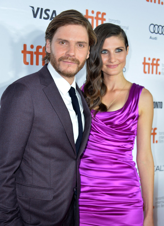 """. Actor Daniel Brühl and girlfriend Felicitas Rombold attend the \""""Rush\"""" premiere during the 2013 Toronto International Film Festival at Roy Thomson Hall on September 8, 2013 in Toronto, Canada.  (Photo by Alberto E. Rodriguez/Getty Images)"""