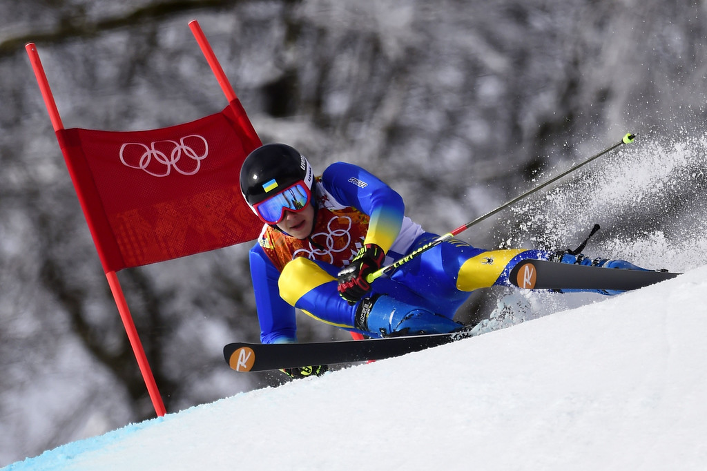 . Brazil\'s Jhonatan Longhi competes in the Men\'s Alpine Skiing Giant Slalom Run 1 at the Rosa Khutor Alpine Center during the Sochi Winter Olympics on February 19, 2014.  AFP PHOTO / OLIVIER  MORIN/AFP/Getty Images