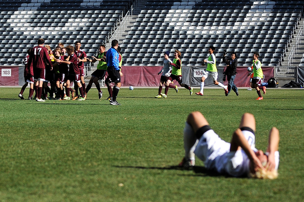 . DENVER CO: Nov. 9, 2013  Cheyenne Mt. defeats Air Academy 2-1 in the 4A State Championship at Dick\'s Sporting Goods Park on Nov. 9, 2013.   (Photo By Erin Hull/The Denver Post)