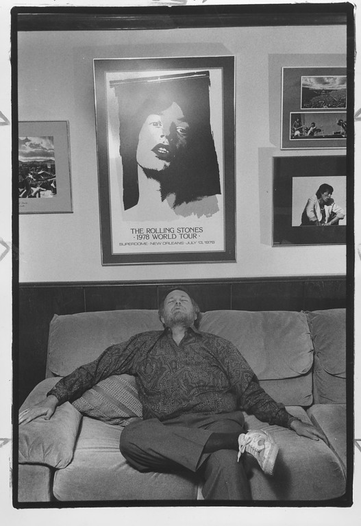 . This photo was taken in 1990.  Barry Fey in his office.    Denver Post Archive Photo