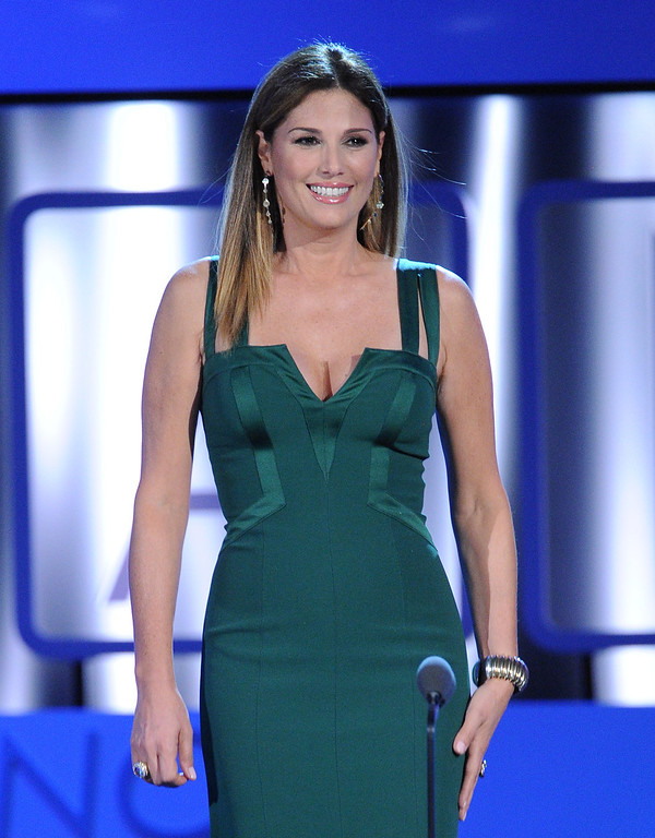 . PASADENA, CA - SEPTEMBER 27:  TV personality Daisy Fuentes speaks onstage during the 2013 NCLR ALMA Awards at Pasadena Civic Auditorium on September 27, 2013 in Pasadena, California.  (Photo by Kevin Winter/Getty Images for NCLR)