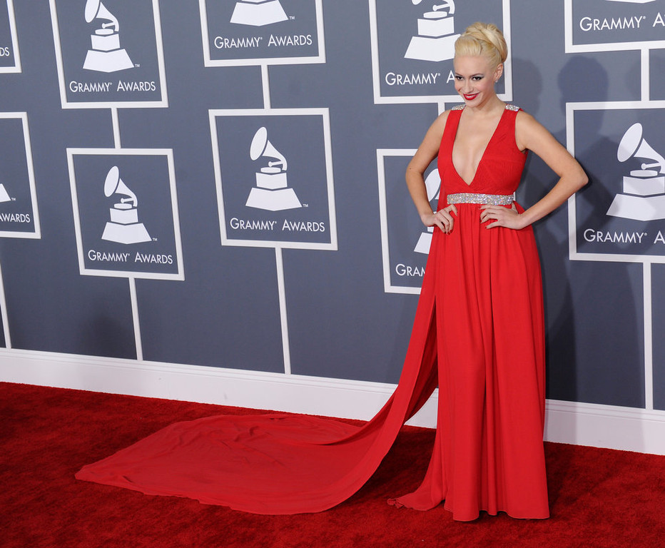 . Kaya Jones arrives to  the 55th Annual Grammy Awards at Staples Center  in Los Angeles, California on February 10, 2013. ( Michael Owen Baker, staff photographer)