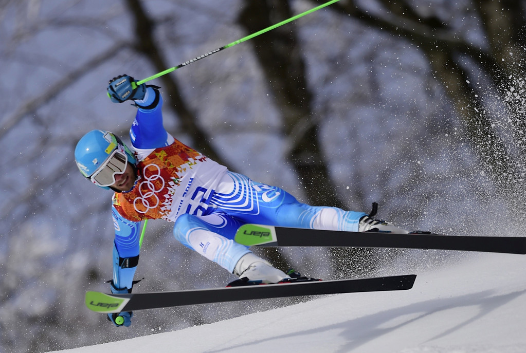 . Argentina\'s Sebastiano Gastaldi competes in the Men\'s Alpine Skiing Giant Slalom Run 1 at the Rosa Khutor Alpine Center during the Sochi Winter Olympics on February 19, 2014.  AFP PHOTO / OLIVIER MORIN/AFP/Getty Images