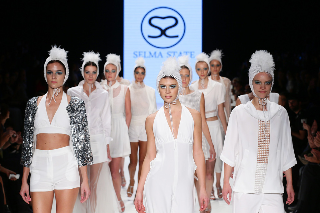 . Models walk the runway at the Selma State show during Mercedes-Benz Fashion Week Istanbul s/s 2014 presented by American Express on October 9, 2013 in Istanbul, Turkey.  (Photo by Vittorio Zunino Celotto/Getty Images for IMG)