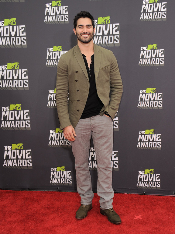 . Tyler Hoechlin arrives at the MTV Movie Awards in Sony Pictures Studio Lot in Culver City, Calif., on Sunday April 14, 2013. (Photo by Jordan Strauss/Invision/AP)