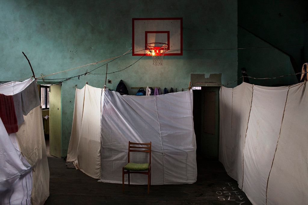 . This picture by Italian photographer Alessandro Penso, Onoffpicture won 1st Prize in General News Singles category of the 57th World Press Photo Contest, it was announced by the organizers in Amsterdam, The Netherlands, 14 February 2014. It shows temporary accommodation for Syrian refugees in Sofia, Bulgaria.  EPA/ALESSANDRO PENSO / ONOFFPICTURE