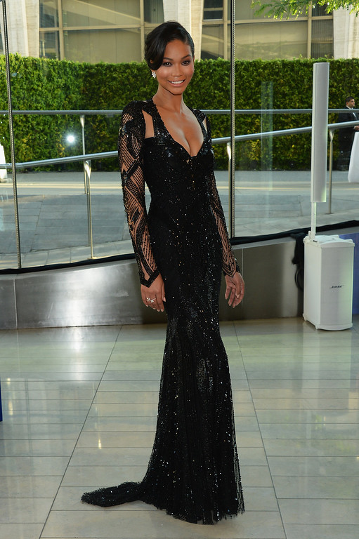 . Chanel Iman attends the 2014 CFDA fashion awards at Alice Tully Hall, Lincoln Center on June 2, 2014 in New York City.  (Photo by Larry Busacca/Getty Images)