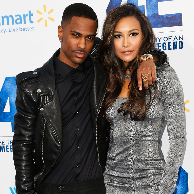 . Rapper Big Sean (L) and actress Naya Rivera attend the premiere of Warner Bros. Pictures\' And Legendary Pictures\' \'42\' at TCL Chinese Theatre on April 9, 2013 in Hollywood, California.  (Photo by Imeh Akpanudosen/Getty Images)