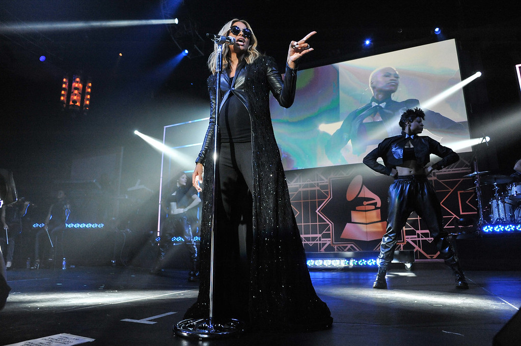 . Ciara performs at The 56th Annual GRAMMY Awards - Official After Party, Sunday, Jan. 26, 2014, in Los Angeles. (Photo by Richard Shotwell/Invision/AP)