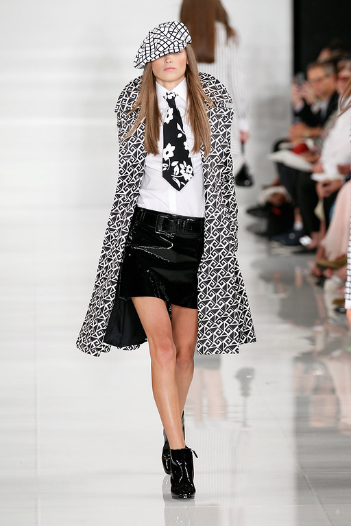 . A model walks the runway at the Ralph Lauren fashion show during Mercedes-Benz Fashion Week Spring 2014 at St. John Center Studios on September 12, 2013 in New York City.  (Photo by Peter Michael Dills/Getty Images for Mercedes-Benz Fashion Week Spring 2014)